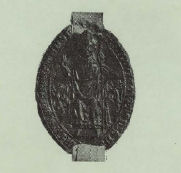 Zegel van Guido van Avesnes, bisschop van Utrecht 1301-1317.